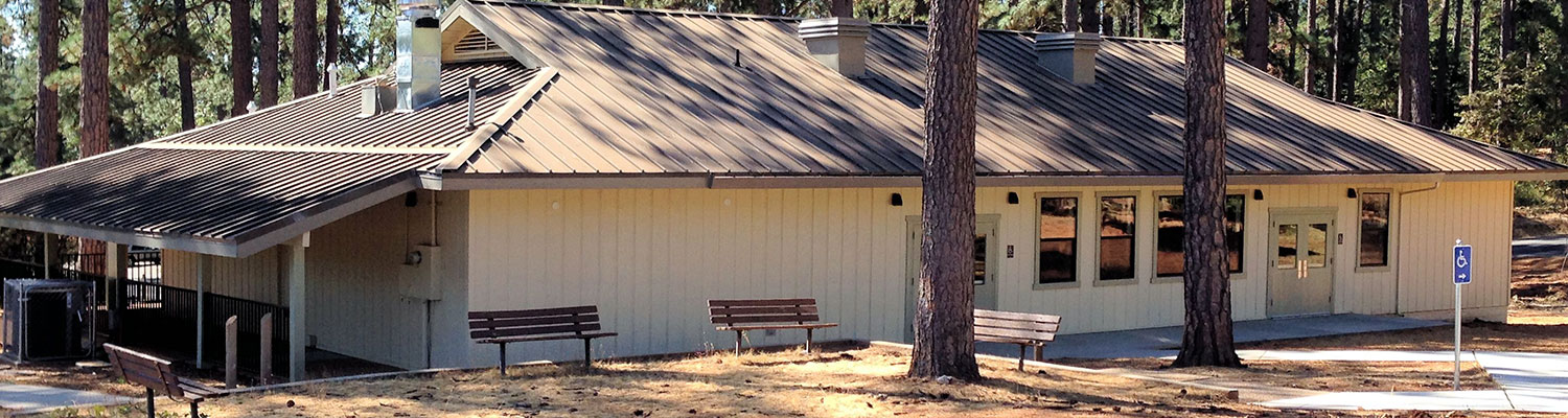 the love building in condon park grass valley