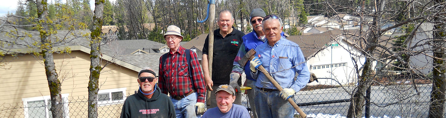 volunteers for the senior firewood program in nevada county