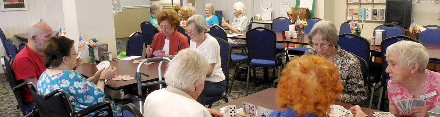 seniors playing pinochle