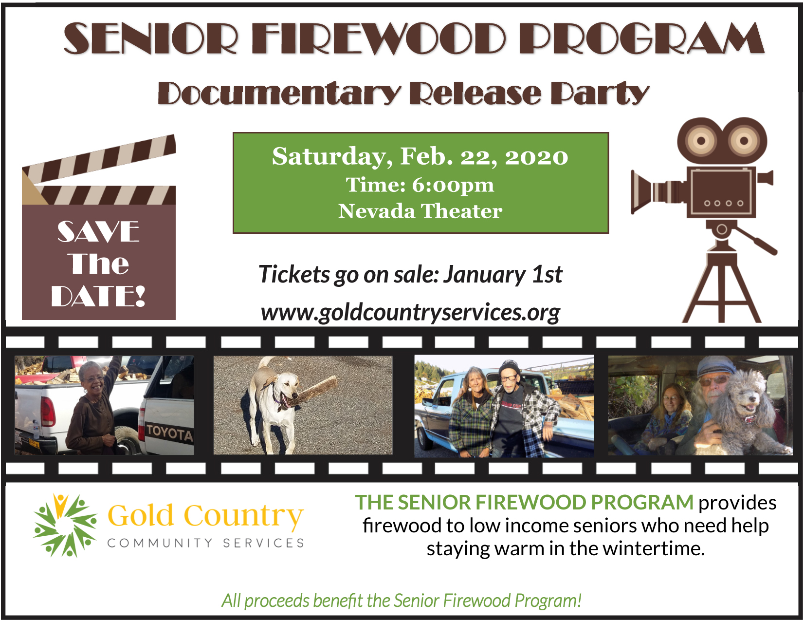 Senior Wood Program Documentary Release Party Flyer