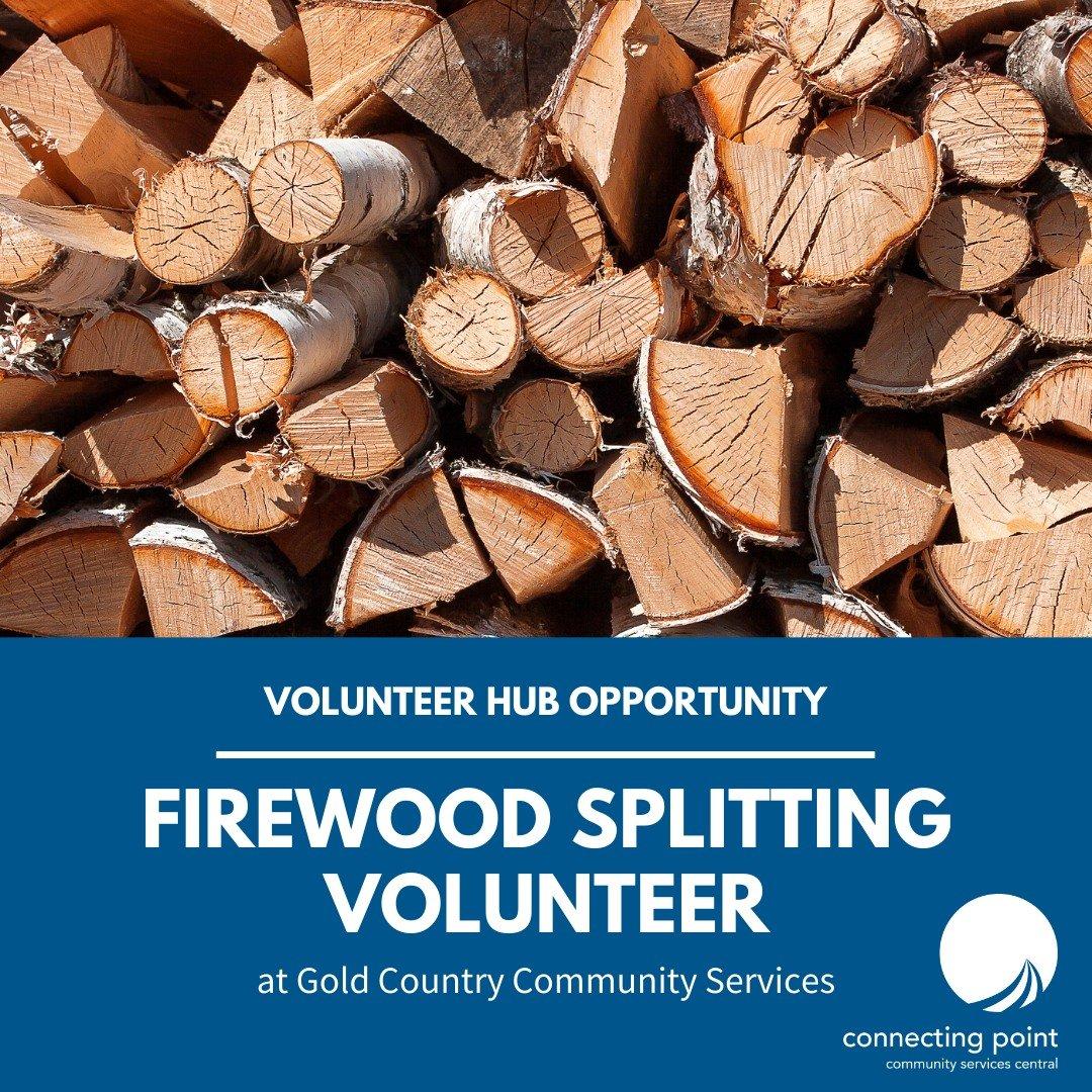 firewood splitting volunteers needed