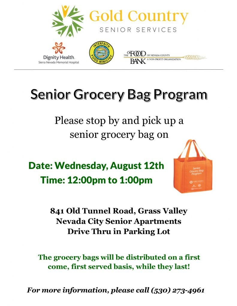 Senior Grocery Bag Program Flyer