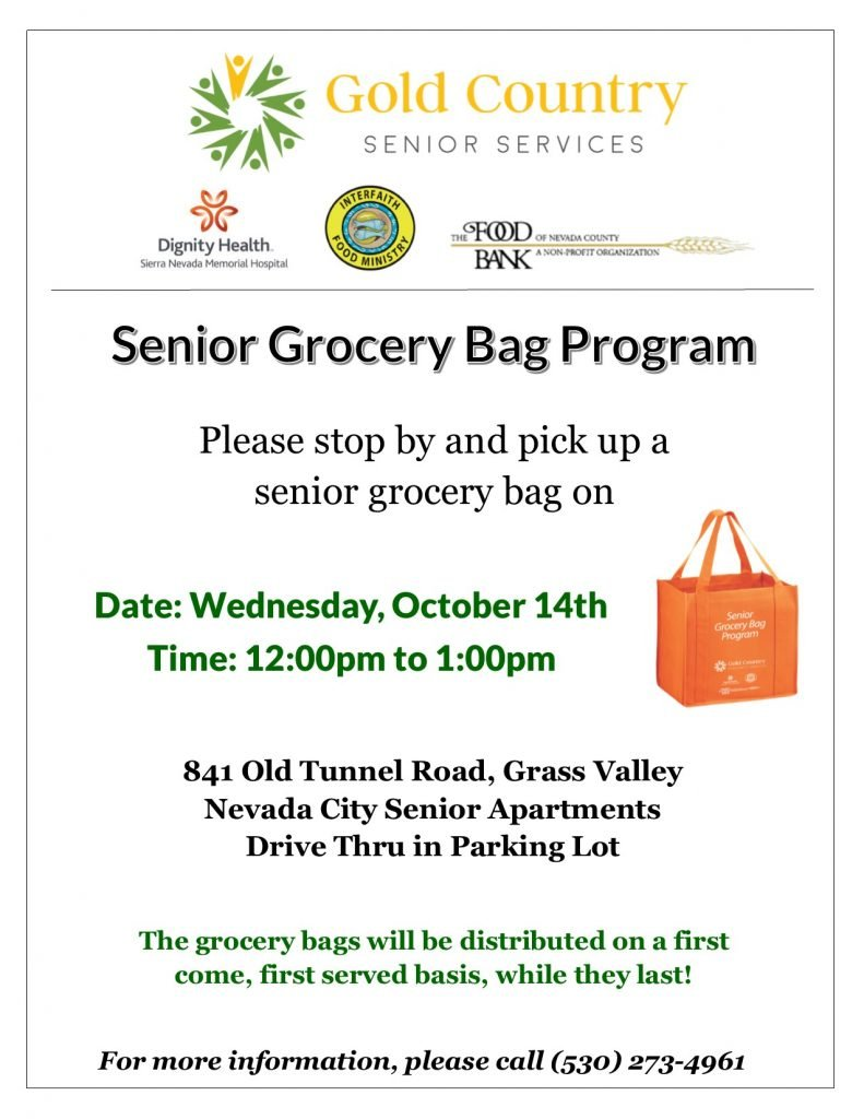 Senior Grocery Bag Program Distribution - October 14th